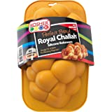 Silicone Braided Challah Pan - Small - Perfect Challah Bread Braid Baking Mold, No Shaping Required - Small - By The Kosher C