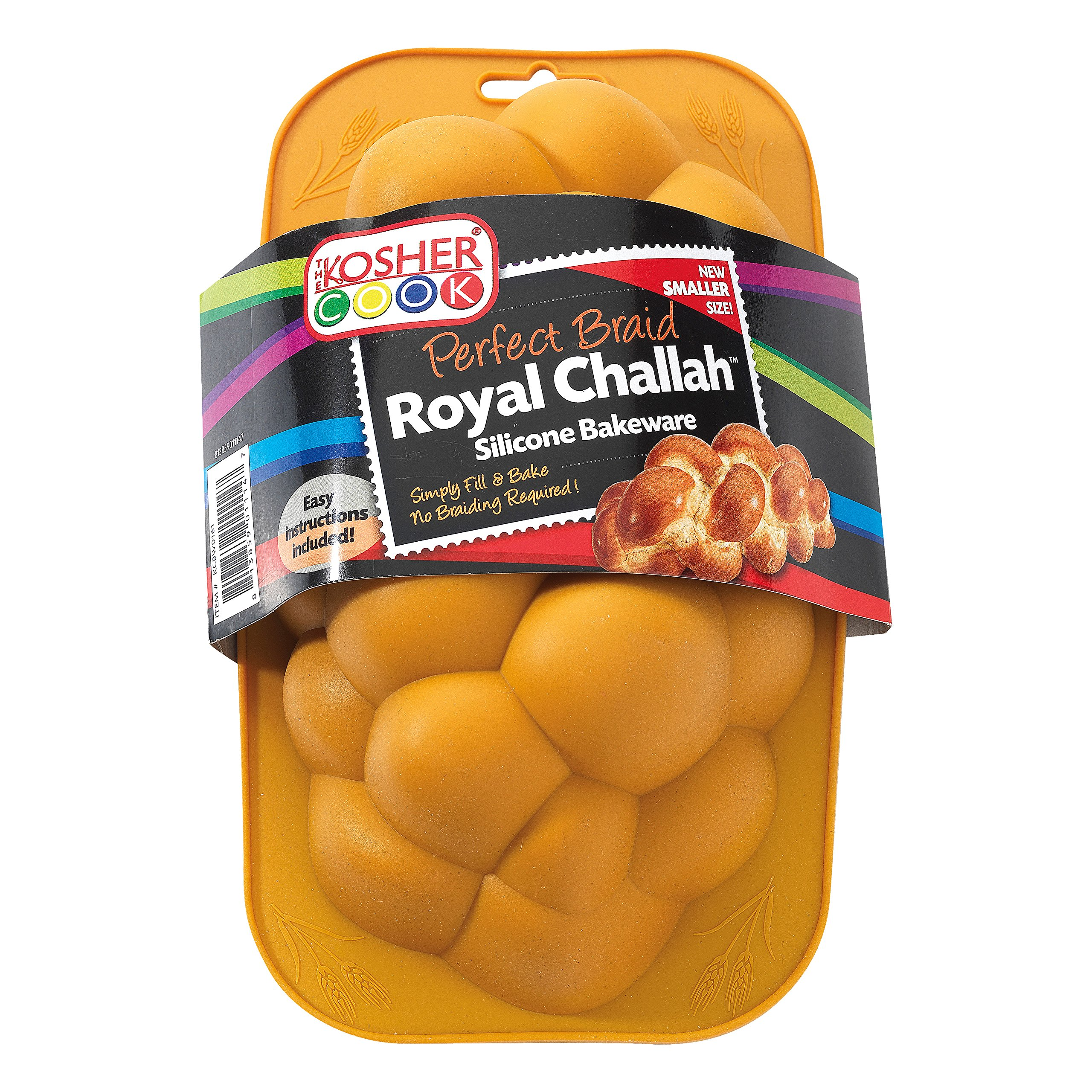 Silicone Braided Challah Pan - Small - Perfect Challah Bread Braid Baking Mold, No Shaping Required - Small - By The Kosher Cook by The Kosher Cook