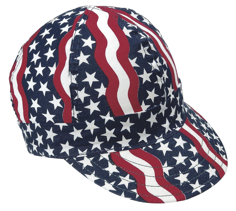 Length 5 Cotton Mutual Industries 00350-00000-7375 Kromer Americana Style Welder Cap 7 3// 8 Width 6 Length 5 Width 6