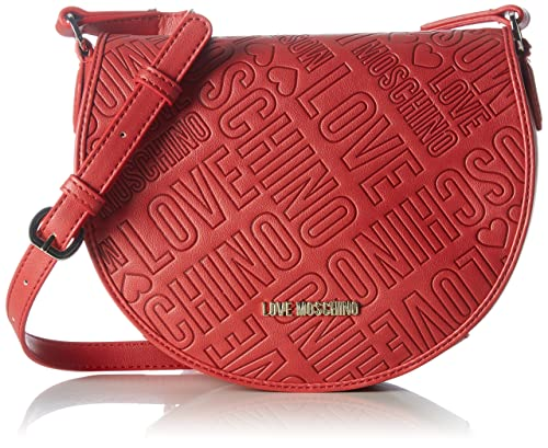 Borsa Grain Pu Rosso, Womens Shoulder Bag, Red, 6x19x30 cm (B x H T) Love Moschino