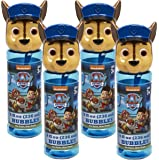Little Kids Paw Patrol Chase 8 oz Bubble Head with Wand Set (4 Piece)