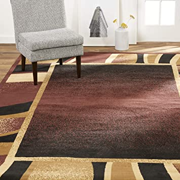 Amazon Com Home Dynamix Lyndhurst Rotana Area Rug 5 2 X7 4 Rectangle Brown Black Garden Outdoor