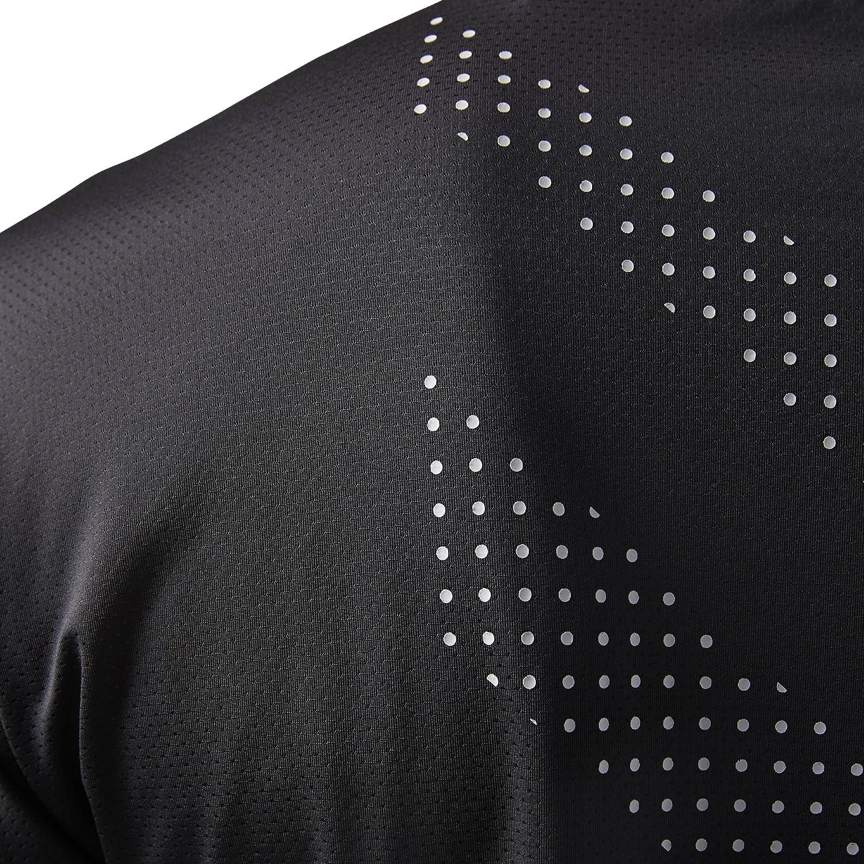 Black Reebok ActivChill Graphic Short Sleeve Mens Training Top