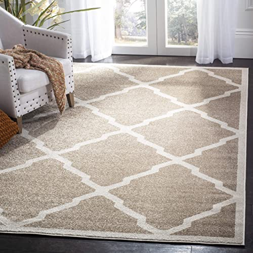 Safavieh Amherst Collection AMT421S Geometric Trellis Area Rug, 4 x 6 , Wheat Beige