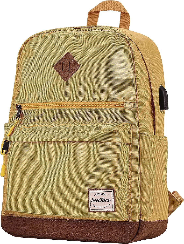 B BRENTANO Unisex Water Resistant Backpack Daypack
