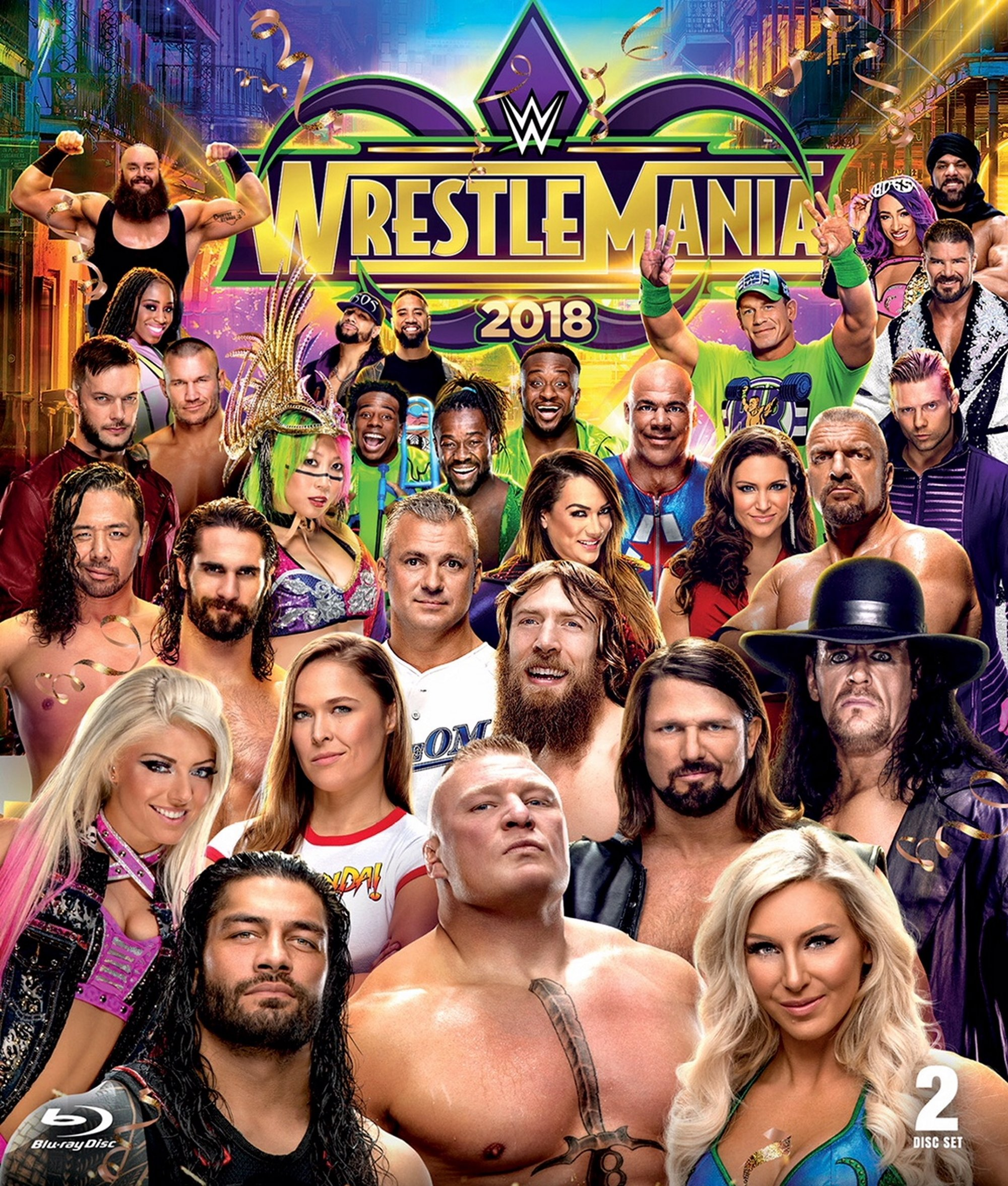 Blu-ray : Wwe: Wrestlemania 34 (Dolby, AC-3, Widescreen, 2 Pack, 2PC)