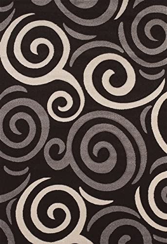 United Weavers of America Townshend Collection Pinball Modern Area Rug, 7-Feet 10-Inch by 11-Feet 2-Inch, Black