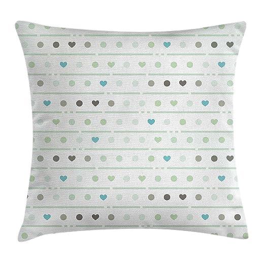 Verde manta almohada Funda de cojín por Ambesonne, diseño de ...