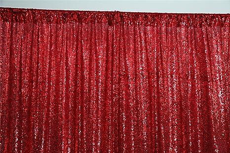 Good News über Die Rot Pailletten Hintergrund Vorhang Hochzeit Hintergrund Bridalbackdrop Weihnachten Hintergrund Amazon De