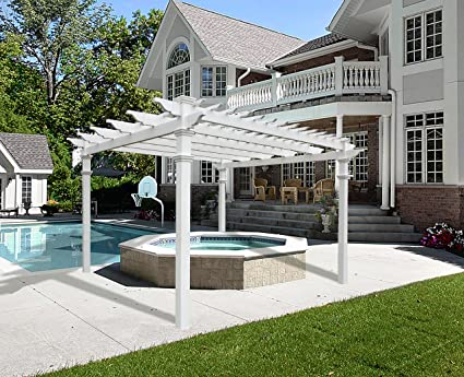 Image Unavailable - Amazon.com : Regency 12' X 12' Vinyl Pergola : Arbors : Garden & Outdoor