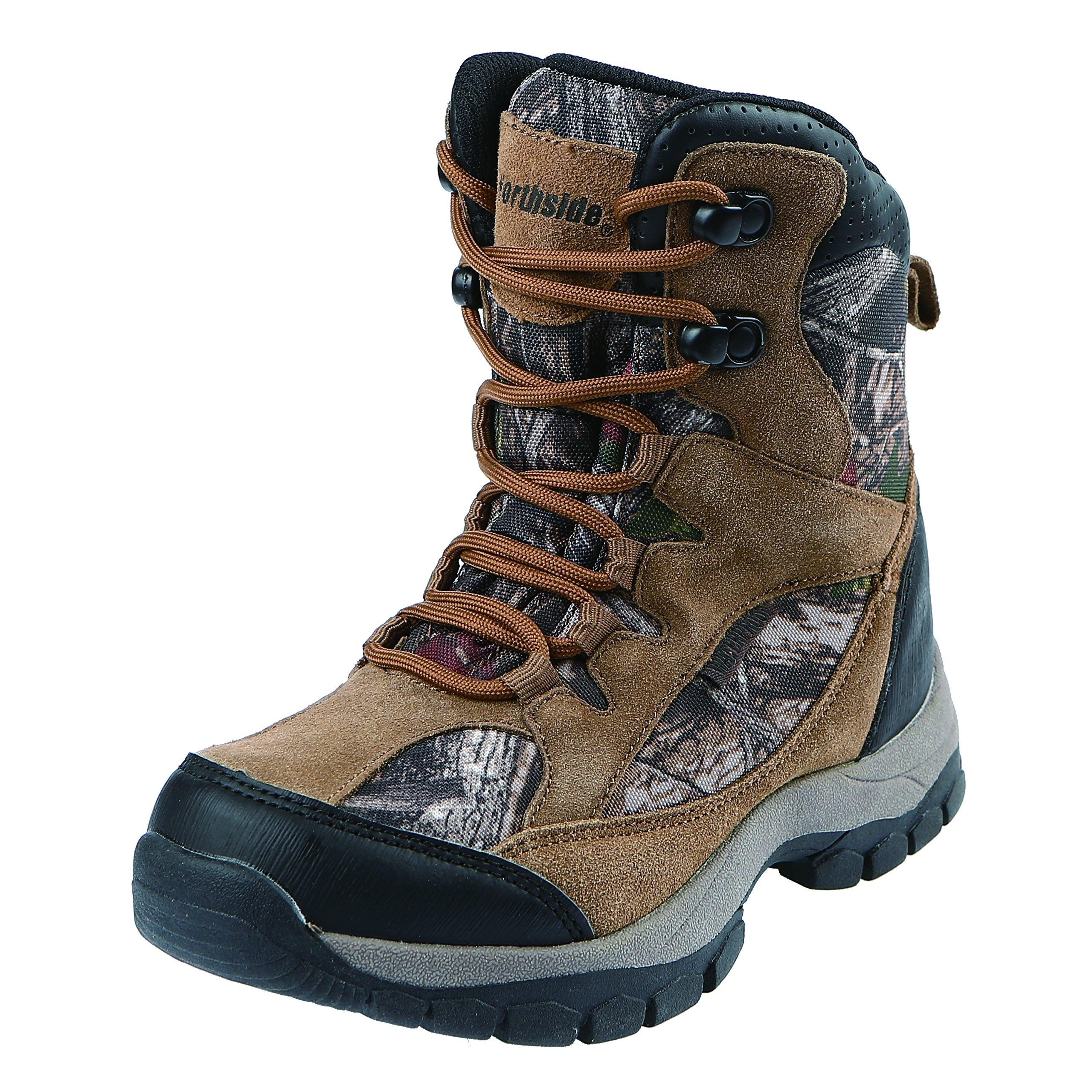 Northside Boys' Renegade 400 Hiking Boot, Tan Camo, Size 3 Medium US Little Kid