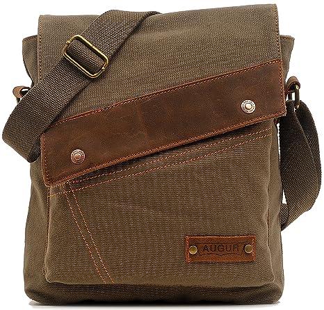 cc7c0486d4d0 Kiddiezoom Unisex Vintage Canvas Shoulder Bag Messenger Bag Crossbody Bags  Case for Ipad Travel Portfolio Bag