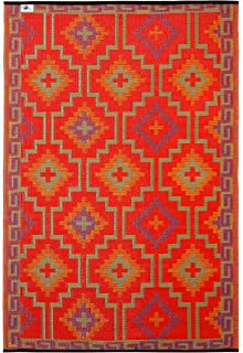 Fab Habitat Lhasa Indoor/Outdoor Rug, Orange U0026 Violet, ...