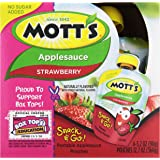 Motts Inc Apple Sauce Snack and Go Strawberry, 12.7 oz