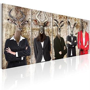 murando Bilder Abstrakt Tiere 200x80 cm - Vlies Leinwandbild - 5 ...
