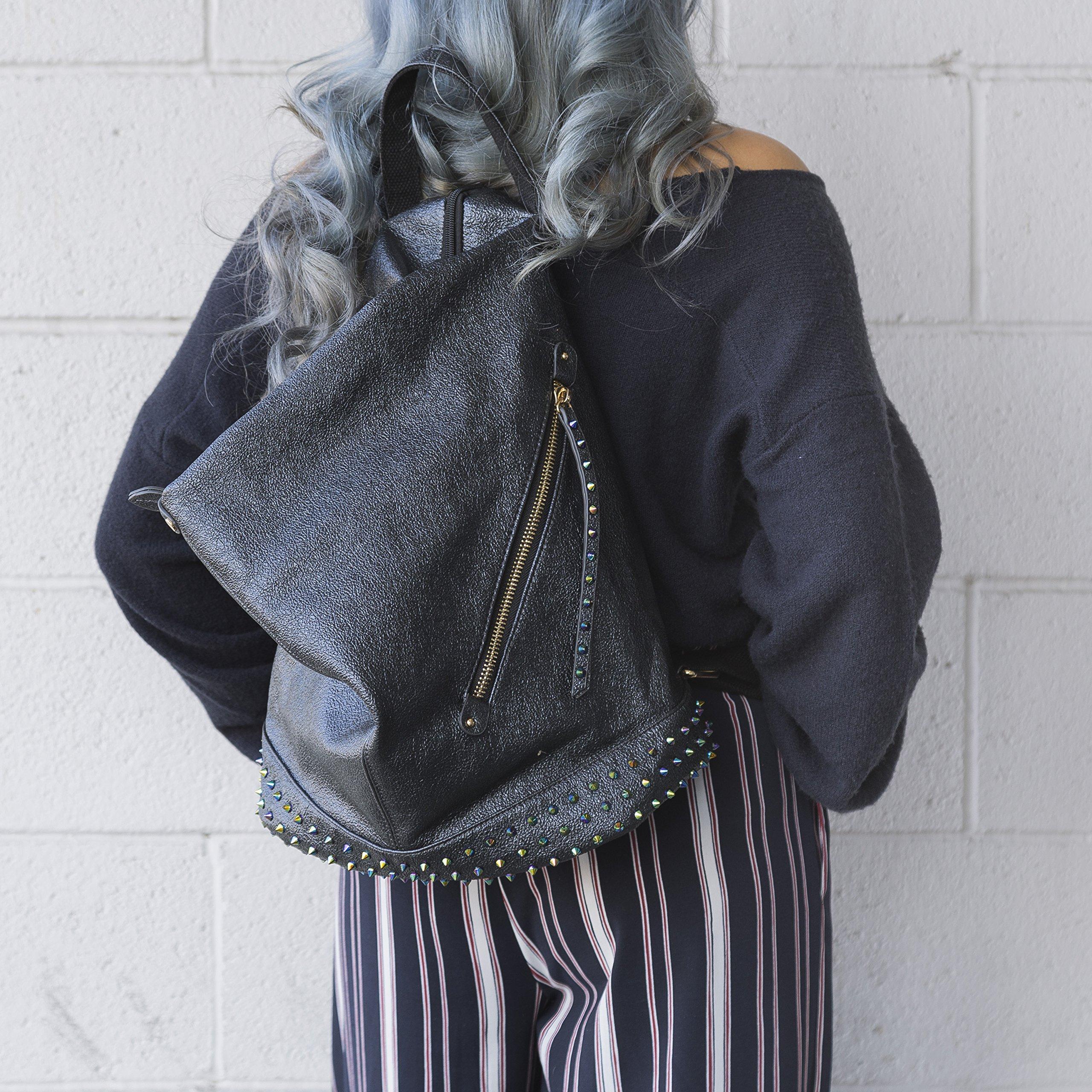 Handbag Republic Fashion Backpack Vegan Leather Travel Bag Easy Carry For Women by Handbag Republic (Image #6)