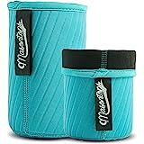 Masontops Wide Mouth Mason Jar Neoprene Sleeve - Teal - Triple Insulated Cozy - 2 Sleeves Cover 16-24 oz & Quart Sizes