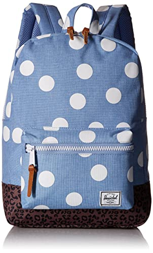 Herschel Supply Co. Settlement Youth, Chambray/White Polka Dot/Leopard/White/Tan Pebbled, One Size