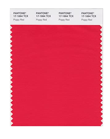 pantone smart 17 1664x color swatch card poppy red