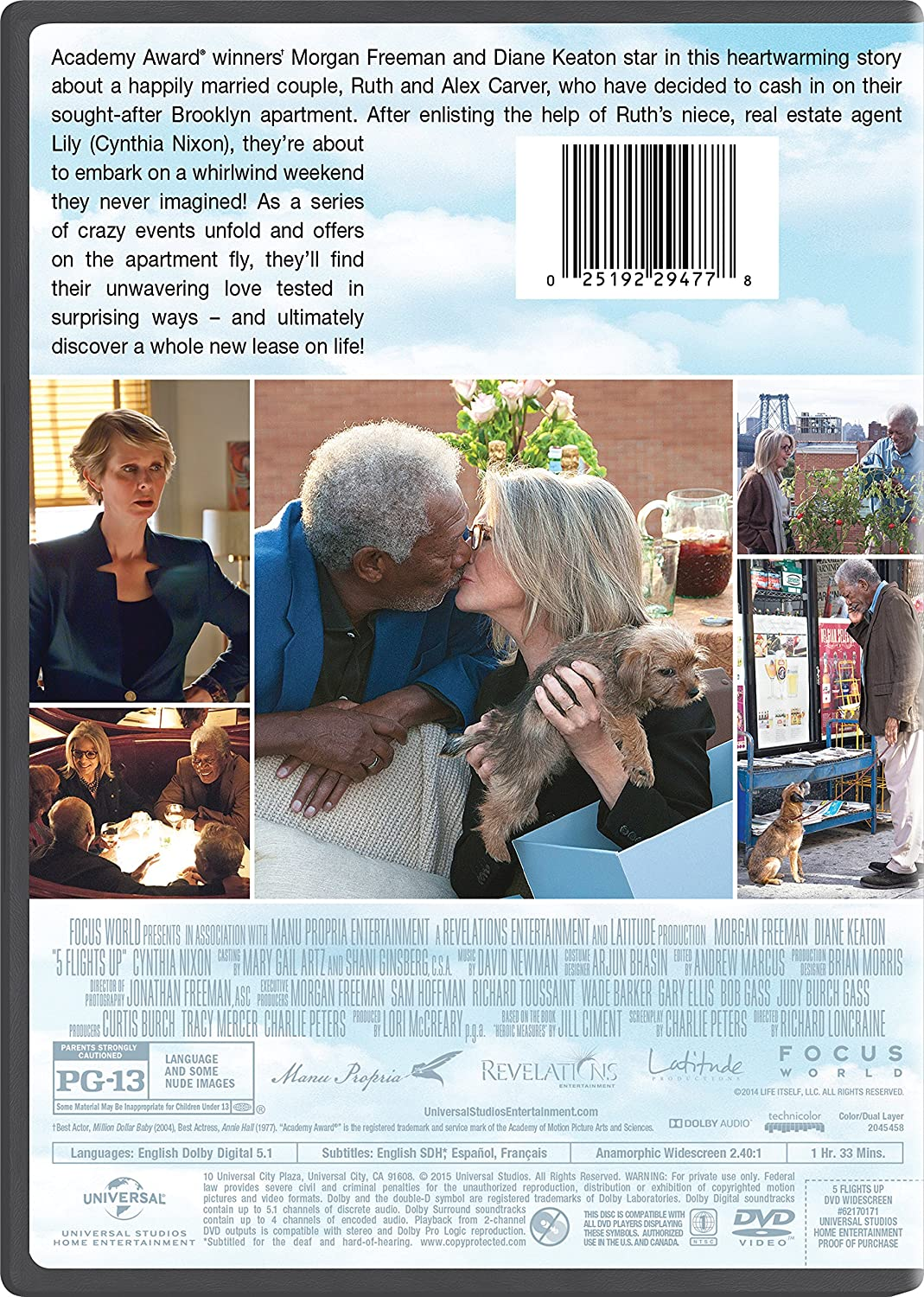 Amazon Com 5 Flights Up Morgan Freeman Diane Keaton Cynthia Nixon Claire Van Der Boom Korey Jackson Carrie Preston Richard Loncraine Lori Mccreary
