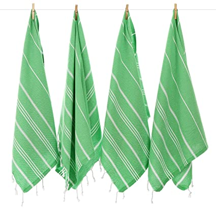 Las Toallas Turcas para Mano de la Serie Pure Cacala (4 piezas) - Tradicionales
