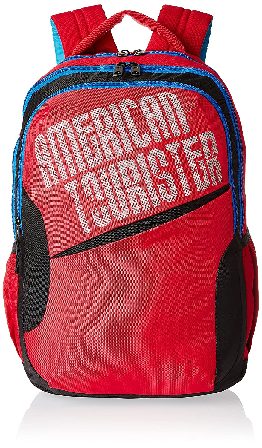 ... american tourister red and grey backpack fenix toulouse handball ... 1f60cf5272381