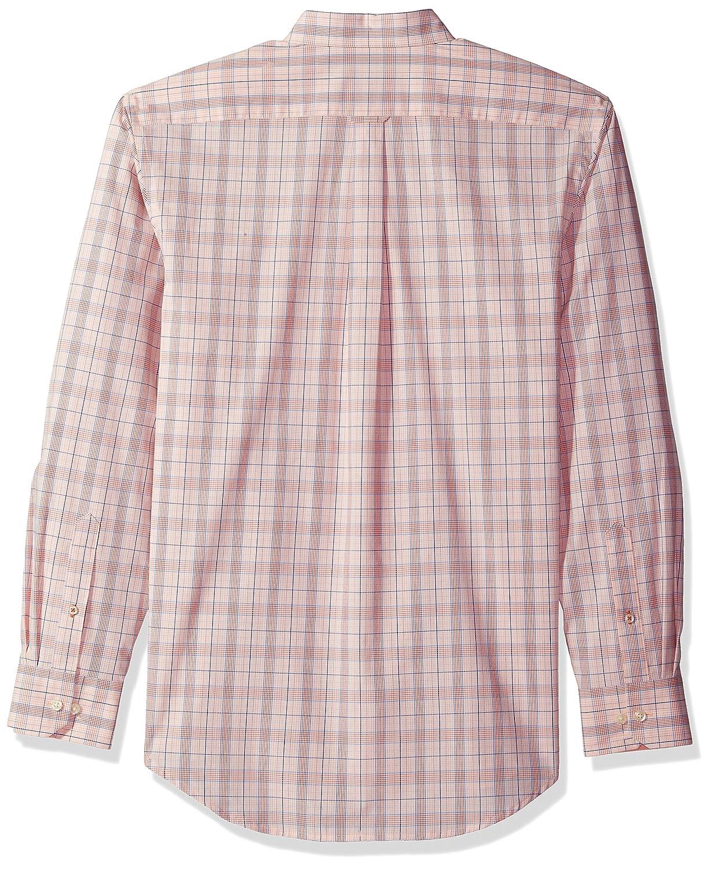 IZOD Mens Button Down Long Sleeve Stretch Performance Plaid Shirt