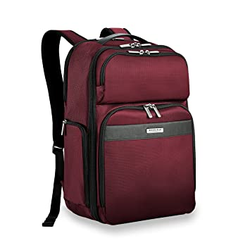 9f93c4ac7 Amazon.com | Briggs & Riley Transcend Cargo Backpack, Merlot | Luggage &  Travel Gear