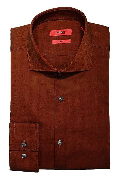 0a898ee18 Hugo Boss 'C-Jason' Men's Rust Medium Brown Slim Fit Dress Shirt US 15.75  IT 40: Amazon.ca: Clothing & Accessories
