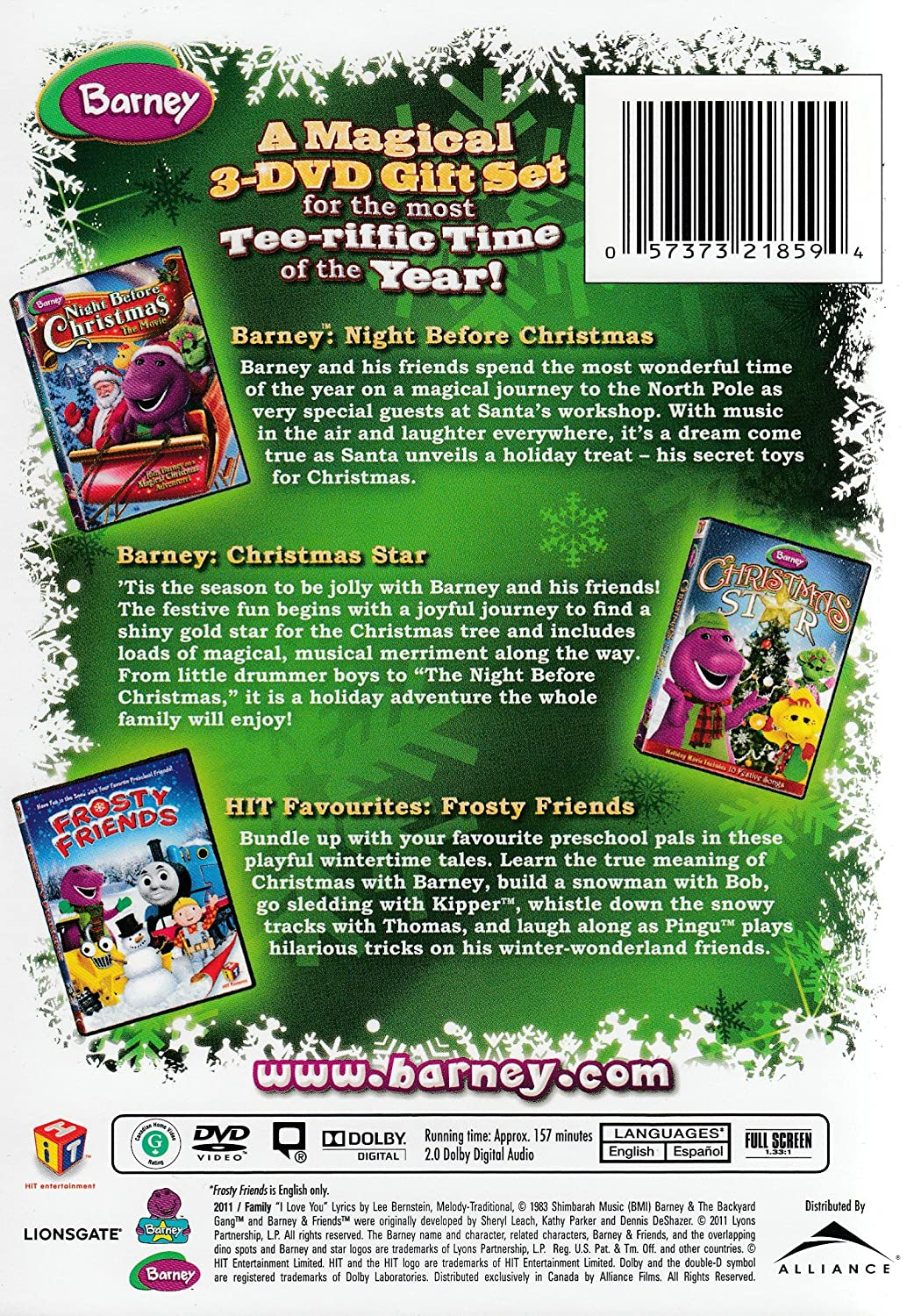 Amazon.com: Barney Holiday Favorites (Barney: Night Before Christmas ...