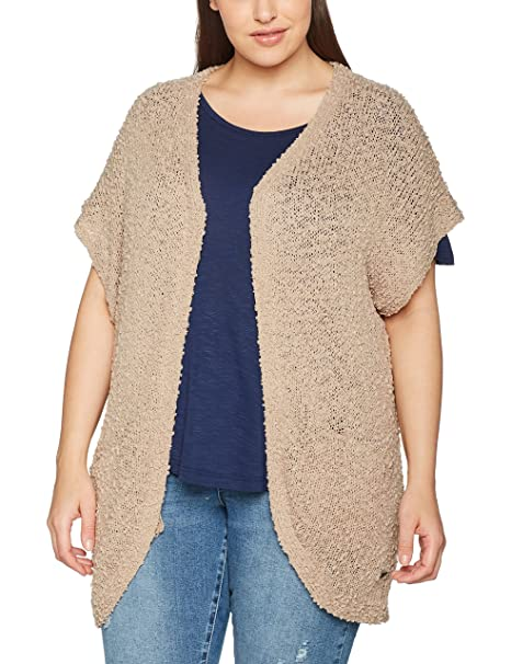 Sheego 772757, Chaqueta para Mujer, Beige softtaupe, 50
