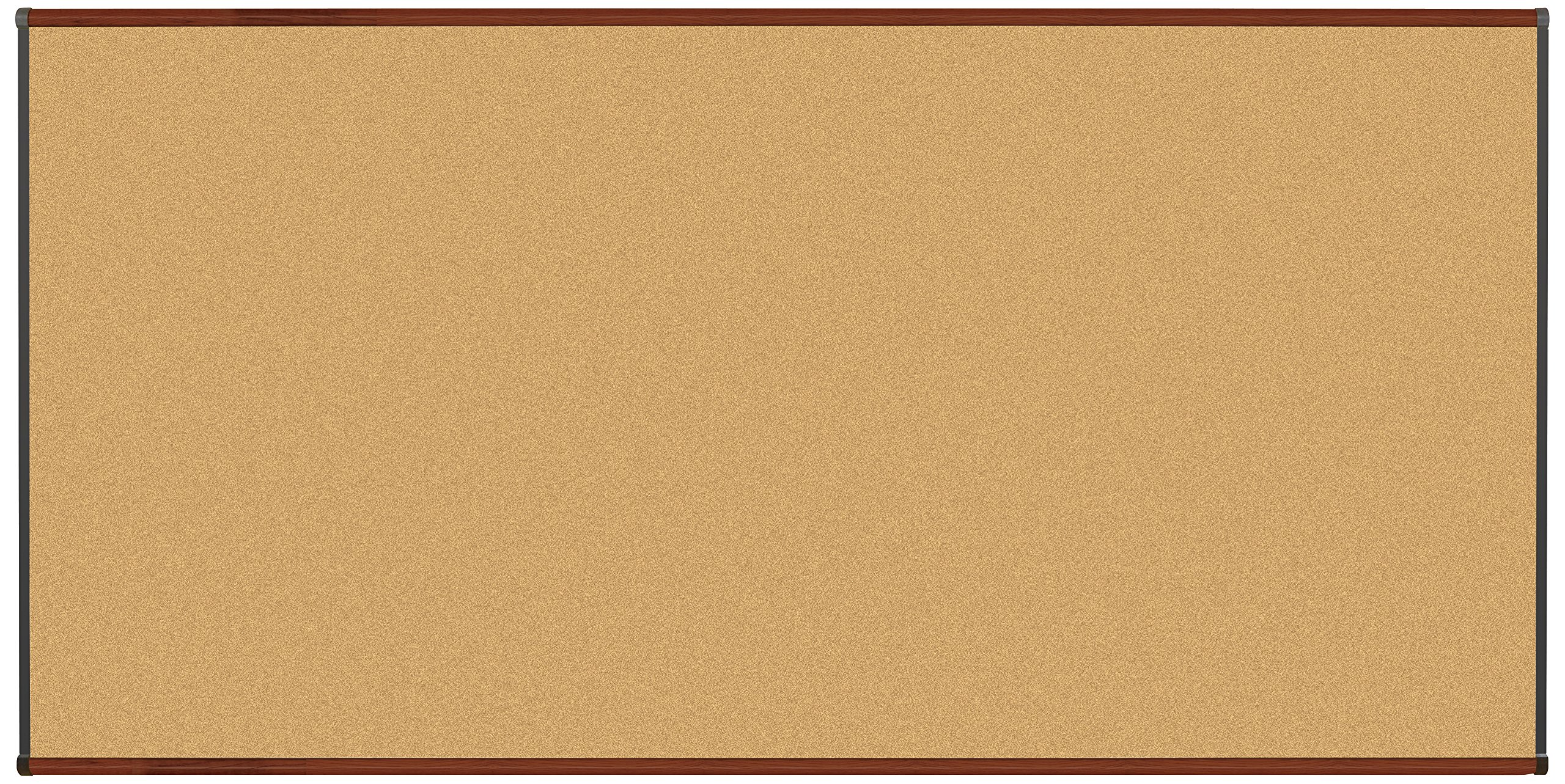Best-Rite Origin Trim-Mahogany/Natural Cork Bulletin Board, 4 x 8 Feet (301OH-03)