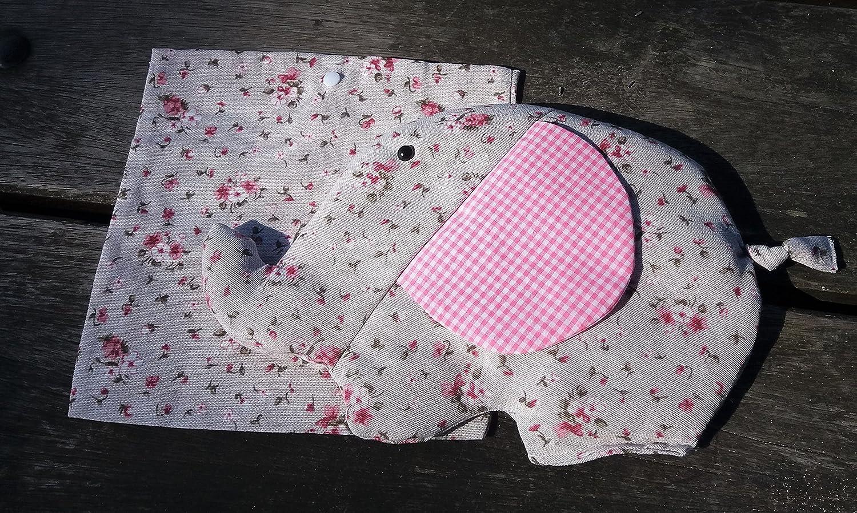 CARREDANA Saco térmico para bebés de Semillas de Trigo y Semillas de Lavanda con Forma de Elefante. (Rosa): Amazon.es: Hogar