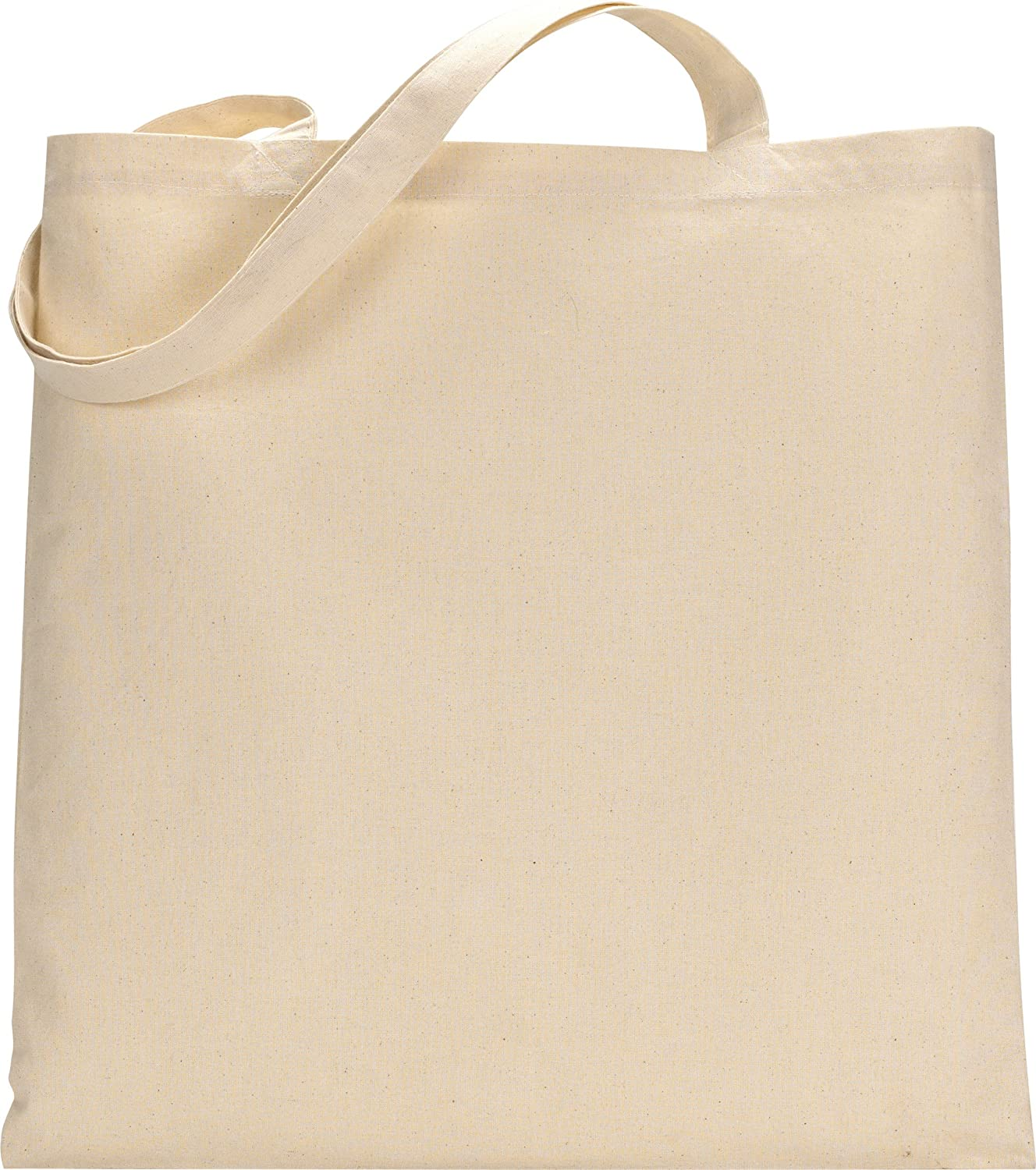 Amazon.com: Set of 25 (twenty five) Natural Cotton Canvas Tote ...