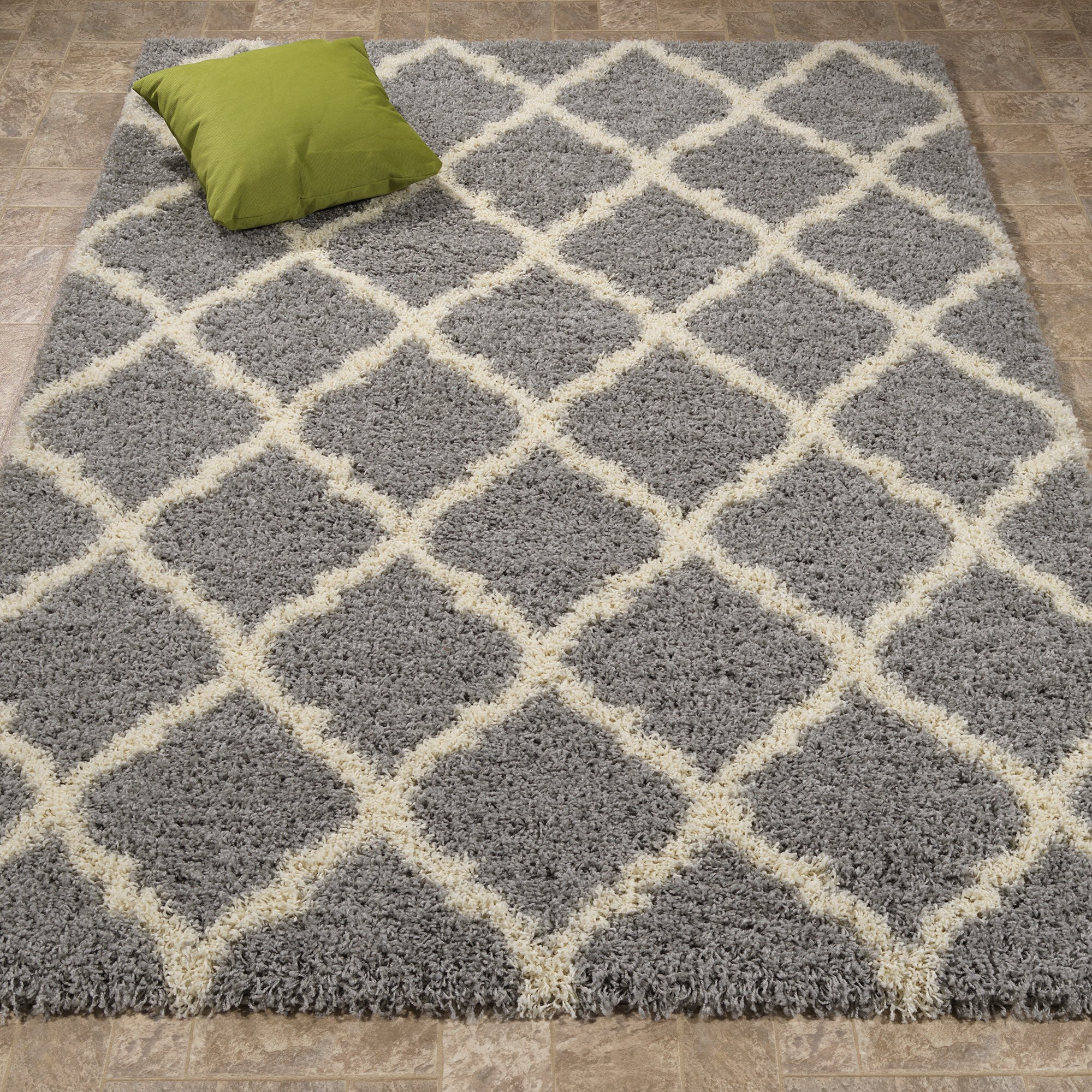 Ottomanson Ultimate Shaggy Collection Moroccan Trellis