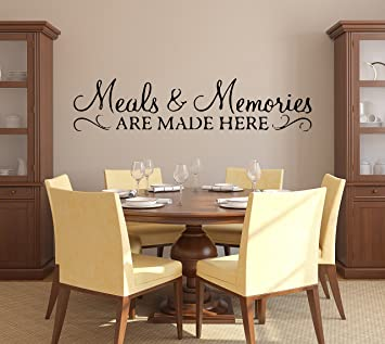 Amazon Com Meals Memories Wall Decal Kitchen Quote Wall Decal Meals And Memories Are Made Here Wall Sticker Kitchen Wall Decor Vinyl 20 X 4 Baby