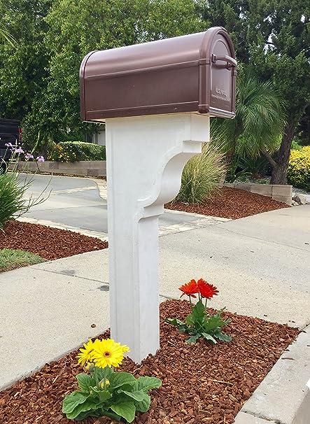 Amazoncom Cast Stone Mailbox Post Ventura Garden Outdoor
