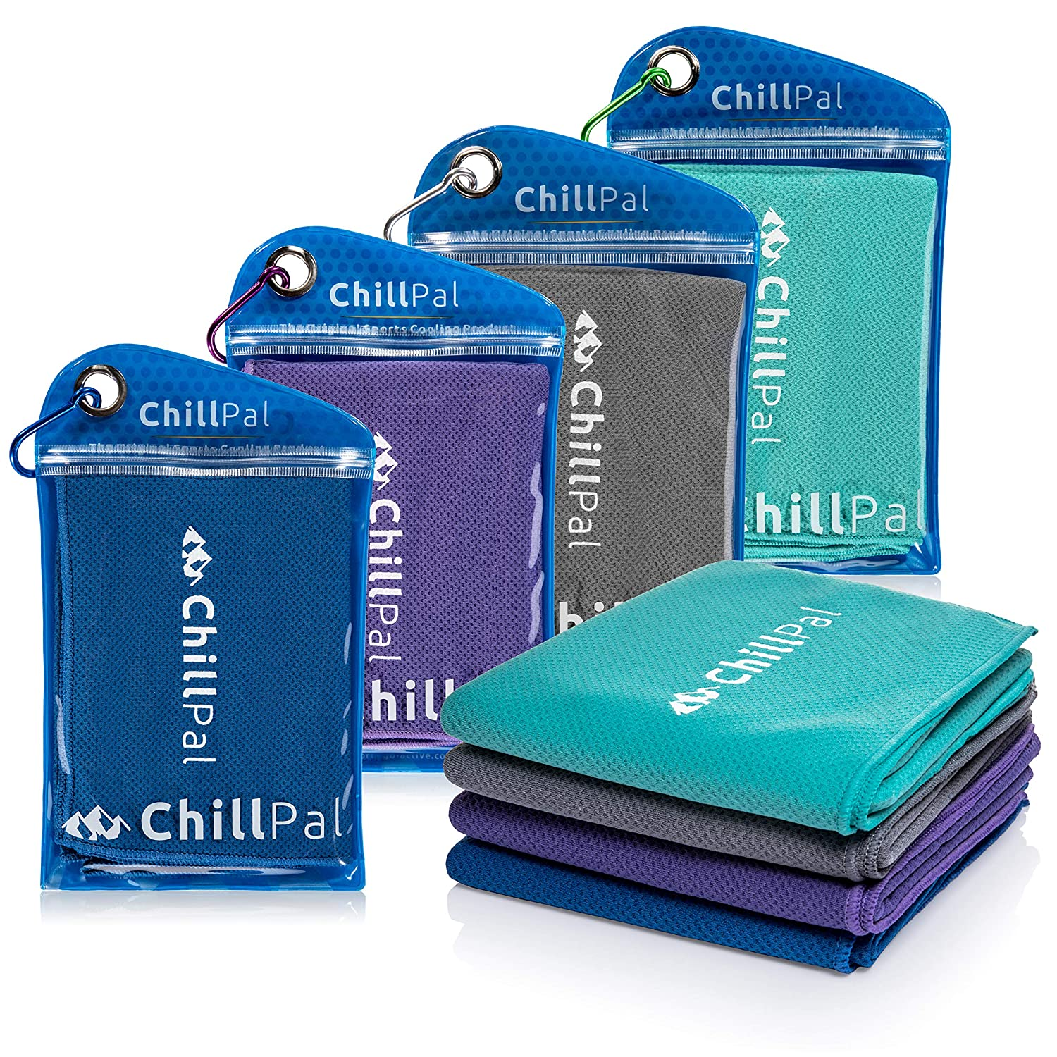 Chill Pal Mesh Cooling Towel for Sports, Gym, Yoga & More - 4 Colors to Choose