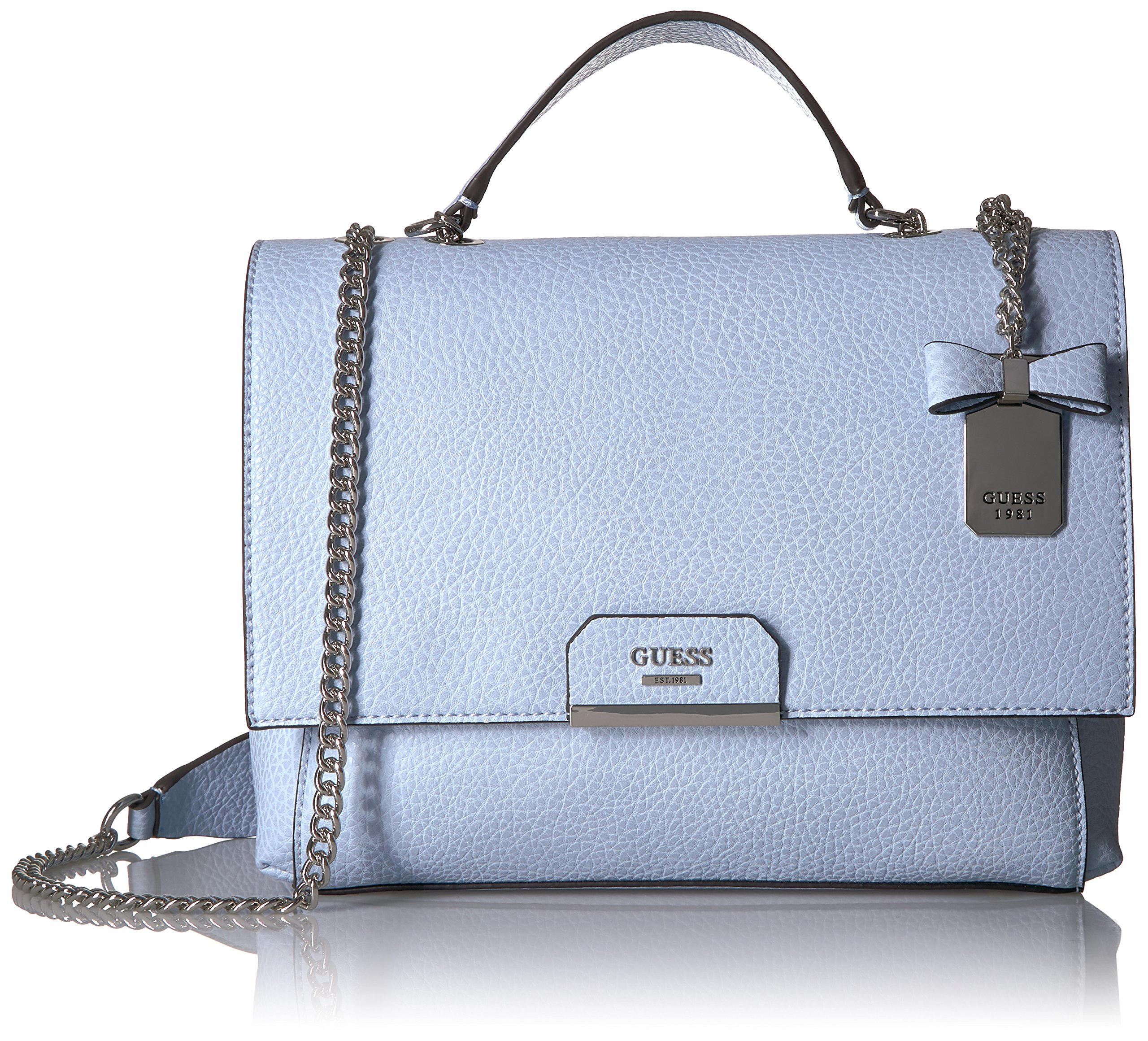 GUESS Ryann Pebble Shoulder Bag, Sky