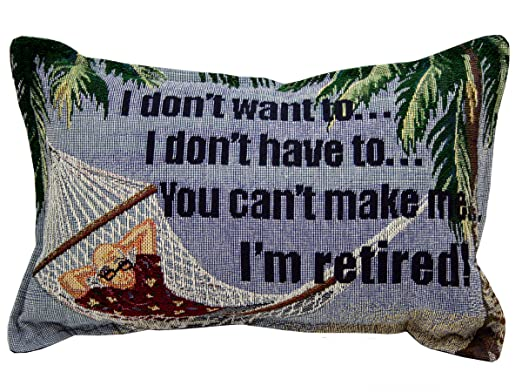 amazoncom i dont want to im retired pillow home kitchen