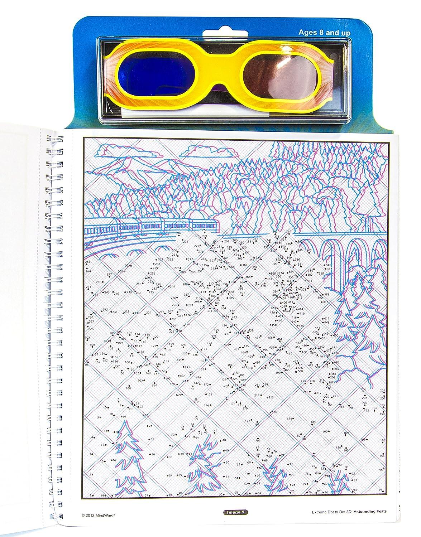 mindware extreme dot to dot 3d astounding feats activity book