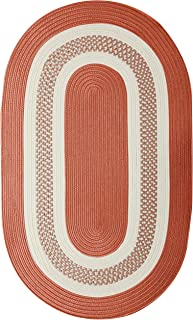 product image for Crescent Oval Area Rug, 12 by 15-Feet, Terracotta