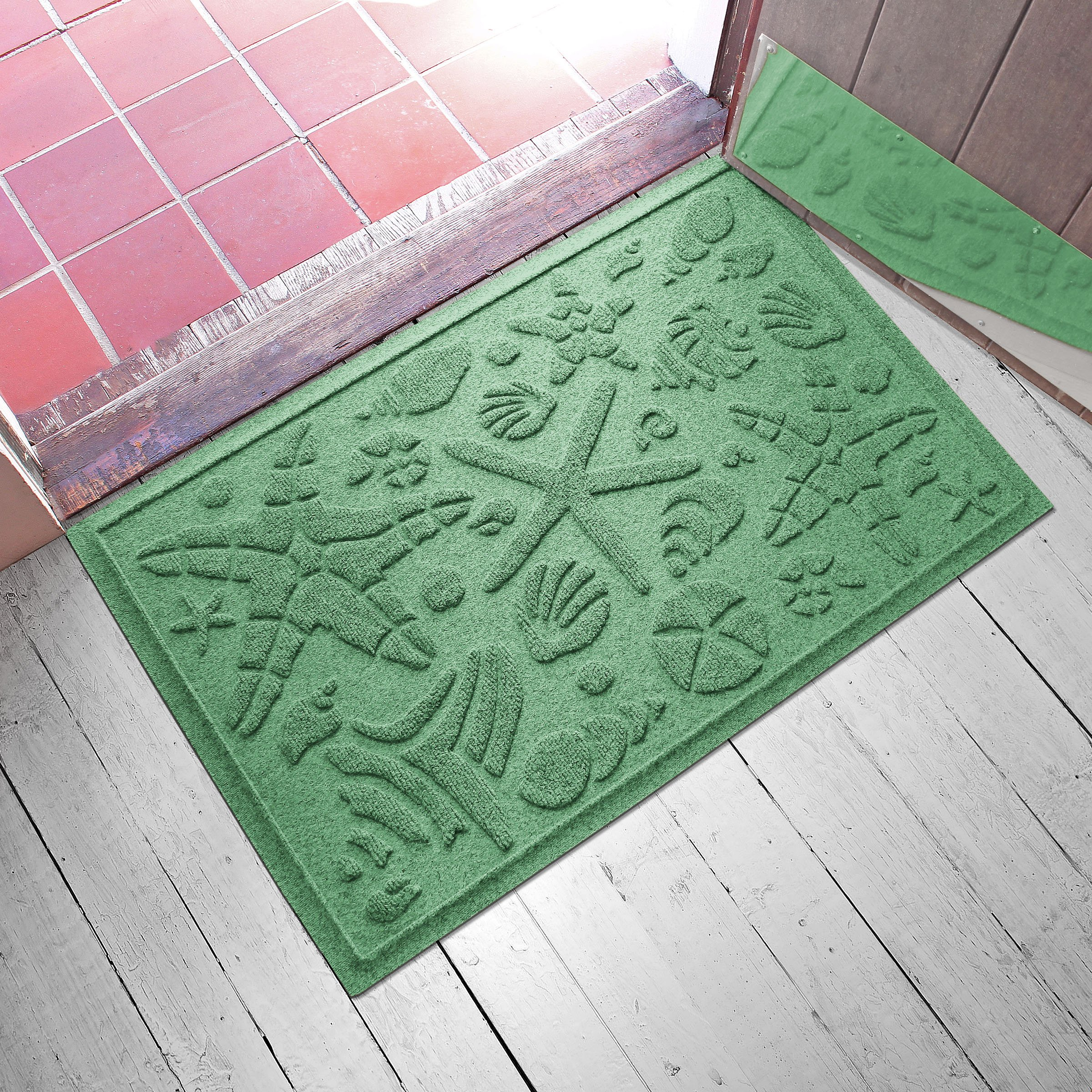 AquaShield Beachcomber Doormat, 2'' x 3'', Light Green