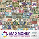 Joonem Mad Money - 1000 Pieces Jigsaw Puzzle Of Paper Bills With Various Values From All Around The World