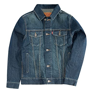 aaf36b6e0c4 Amazon.com  Levi s Boys Denim Trucker Jacket  Clothing