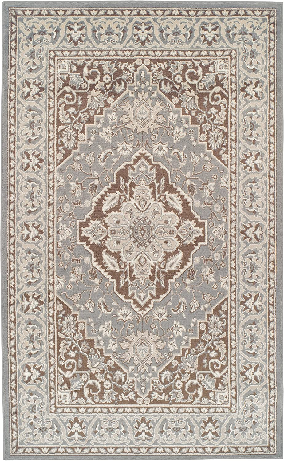 Superior Glendale Collection Area Rug Traditional Brown Oriental Rug 8 Mm Pile Jute Backing Floor Rug Grey 8 X 10 Furniture Decor