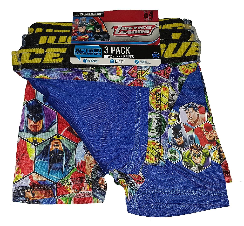 Fashion DC Comics Justice League Action Underwear 3 Pack Boxer Briefs