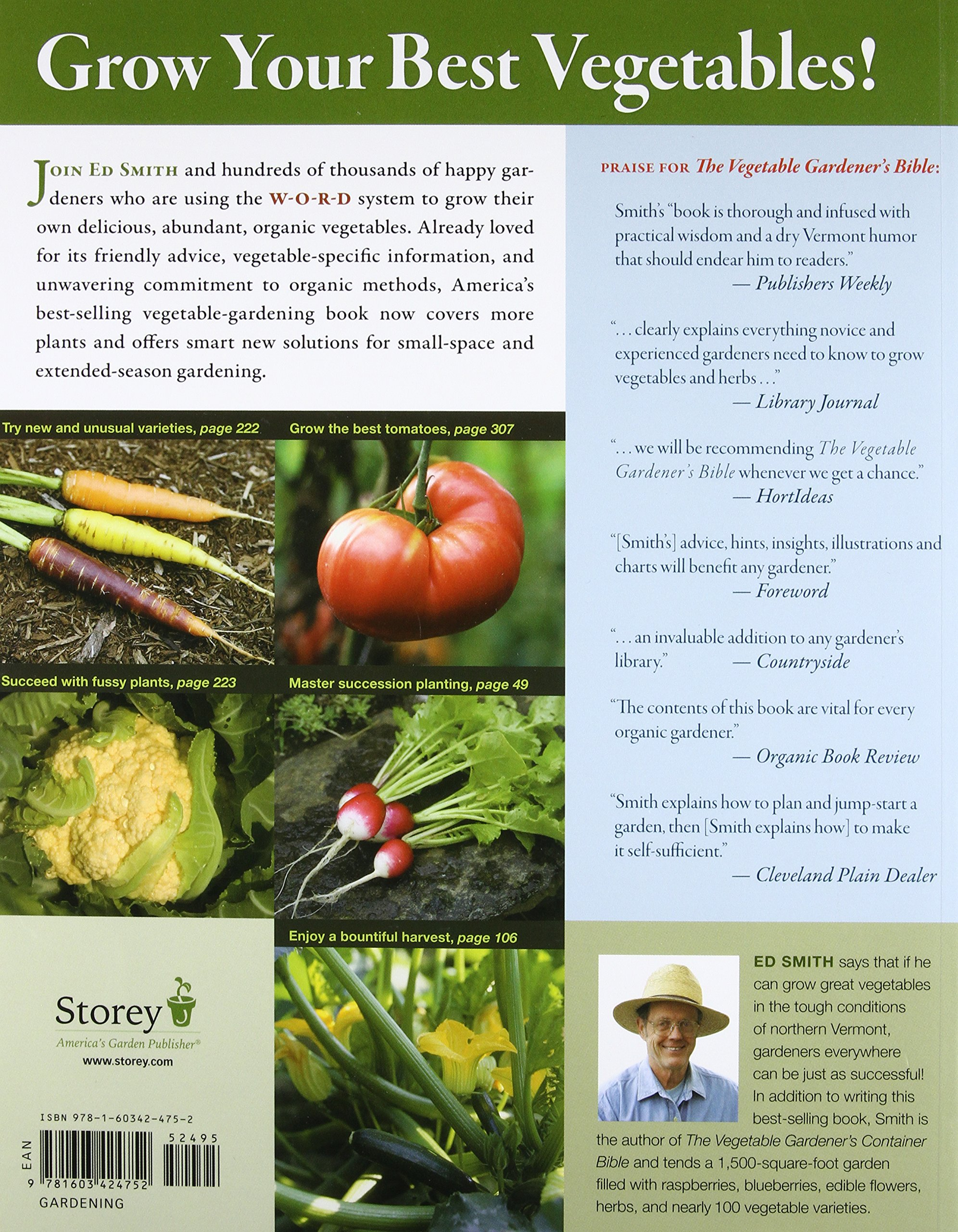 The Ve able Gardener s Bible 2nd Edition Discover Ed s High Yield W O R D System for All North American Gardening Regions Wide Rows Organic Methods