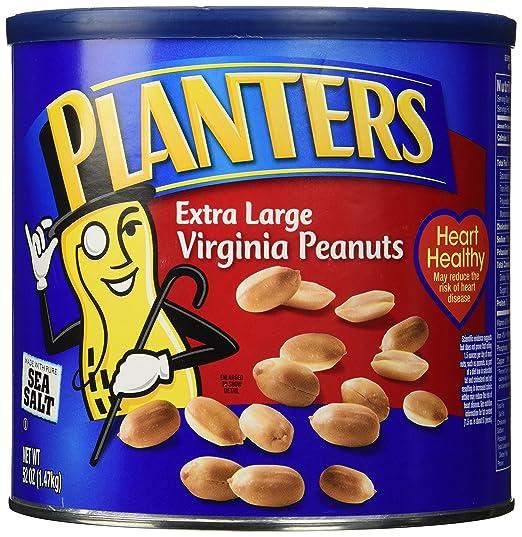 Amazon Com Planters Extra Large Salted Virginia Peanuts 52 Oz