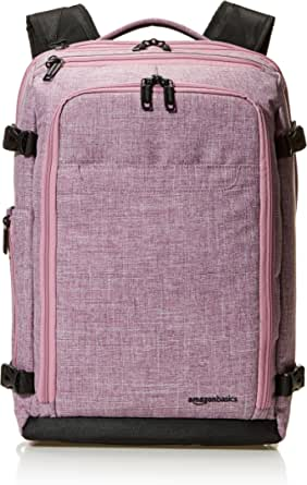 AmazonBasics Slim Carry On Travel Backpack, Purple - Weekender